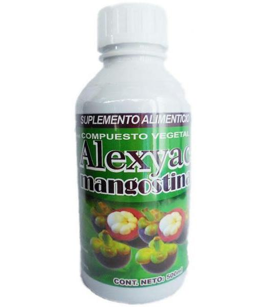 ALEXYAC COMPUESTO VEGETAL MANGOSTINA 500ML. ENERGETIZANTE NUTRY SALUD