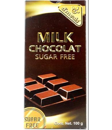 CHOCOLATE CON LECHE SIN AZUCAR 100 G D MEALS