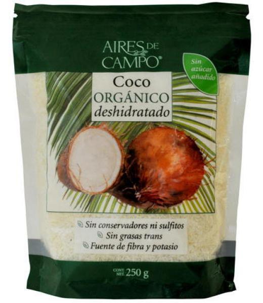 COCO DESHIDRATADO ORGANICO 250 G AIRES DE CAMPO