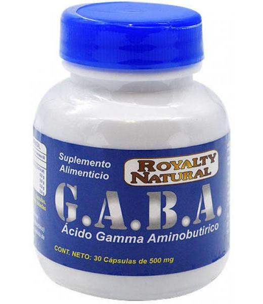 G.A.B.A ACIDO Y AMINOBUTIRICO 500 MG 30 CAPS ROYALTY NATURAL