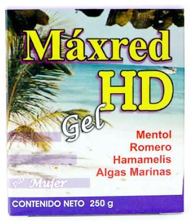 GEL REDUCTOR MUJER MAXRED 250 G HD