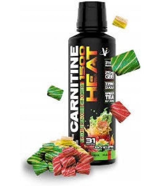 L-CARNITINE HEAT W GBB 1500 JUICY STRIPES 473 ML (31 SRVS) VMI SPORTS
