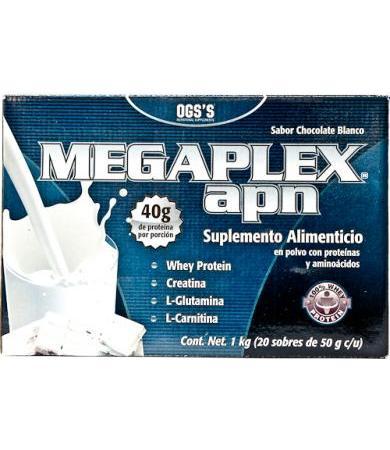 MEGAPLEX APN CHOCOLATE BLANCO 50 G OGSS P 20