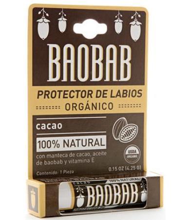 PROTECTOR LABIOS ORGANICO CACAO 4.25 G BAOBAB P 10