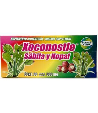 XOCONOSTLE SABILA Y NOPAL 60 TAB 500 MG FUERZA Y VIDA
